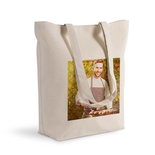 Bolsa de algodón Shopping con foto