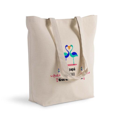 Bolsa de algodón Shopping flamenco azul