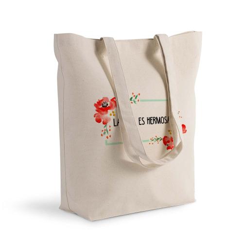 Bolsa de algodón Shopping flores en acuarela amapolas