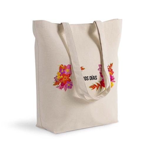 Bolsa de algodón Shopping con flores exoticas