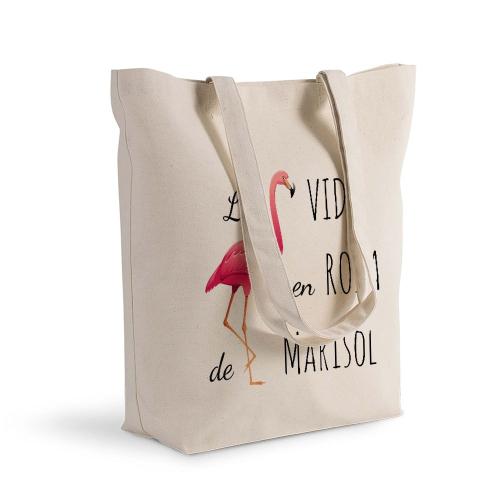 Bolsa de algodón Shopping La vida en rosa