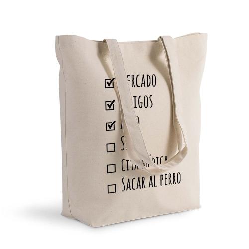 Bolsa de algodón Shopping lista de haceres