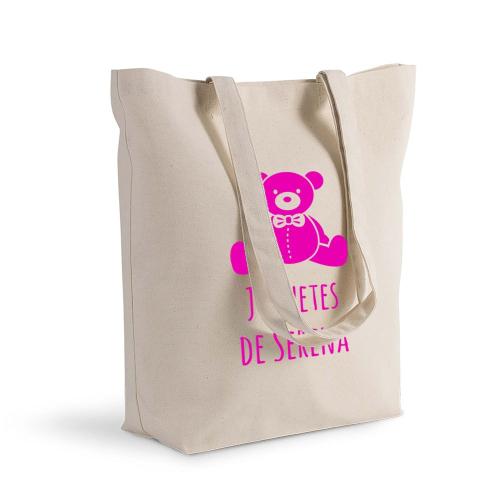 Bolsa de algodón Shopping con motivo