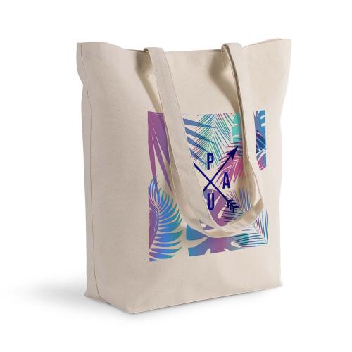 Bolsa de algodón Shopping palmeras y flechas