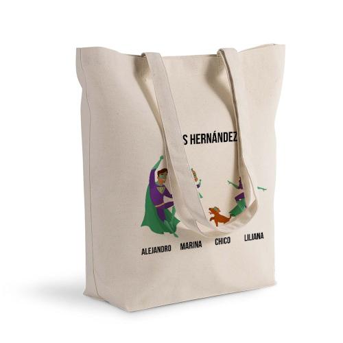 Bolsa de algodón personalizada superhéroe