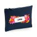 Bolsa multi-usos azul flores exoticas