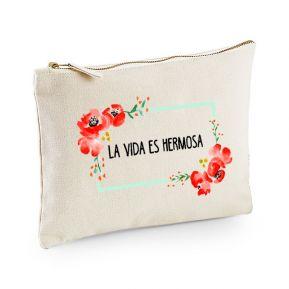 Bolsa multi-usos personalizada flores en acuarela