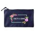 Bolsa pequeña personalizada flores en acuarela azul