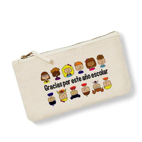 Bolsa pequeña personalizada gracias maestra natural