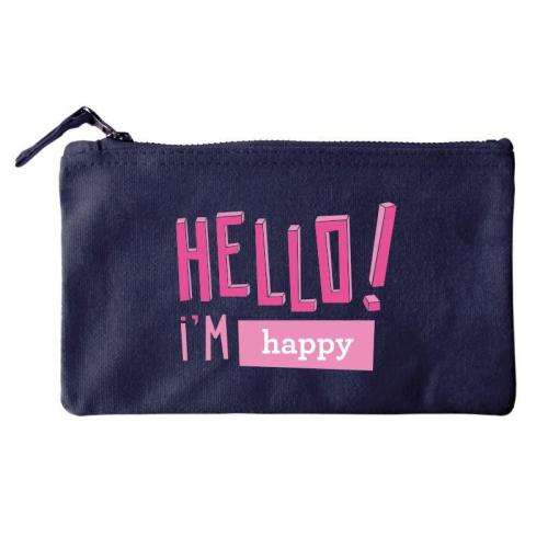 Bolsa pequeña personalizada HELLO azul
