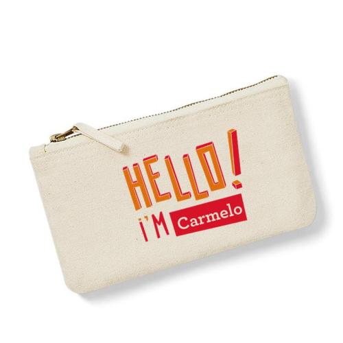 Bolsa pequeña personalizada HELLO natural