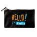 Bolsa pequeña personalizada HELLO negro