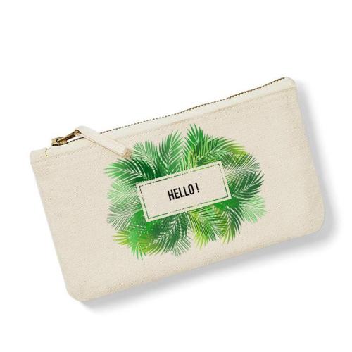 Bolsa pequeña personalizada palmeras natural