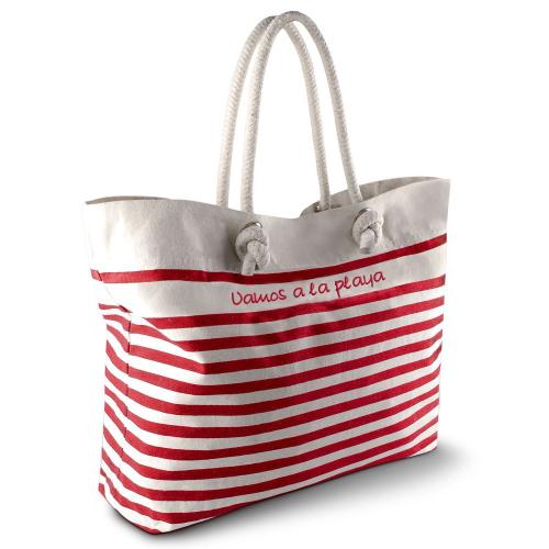 Bolsa de playa marinera rojo