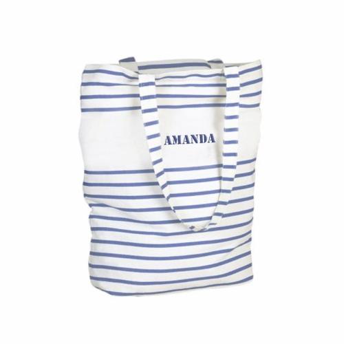 Bolsa de shopping marinera azul