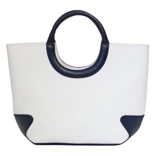 bolso de mano Belle-Ile  pequeño blanco