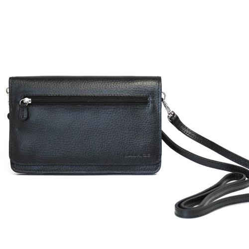 bolso de mano ceremonia en cuero color negro