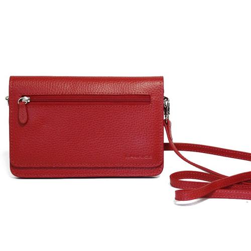 bolso de mano ceremonia en cuero color rojo
