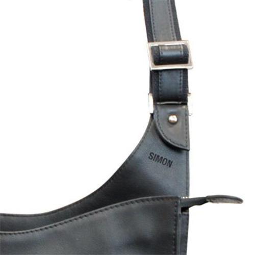 bolso mochila en cuero personalizado nombre