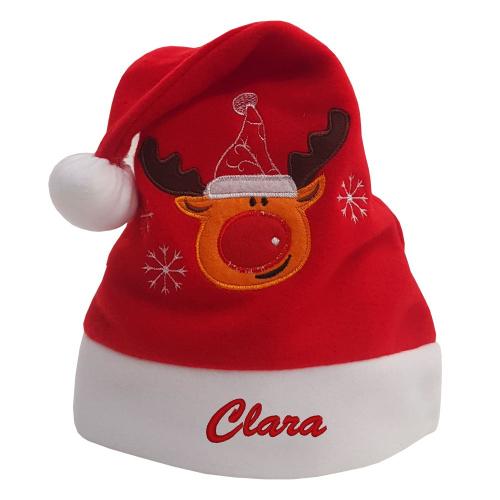 Gorro de Navidad bordado para niños