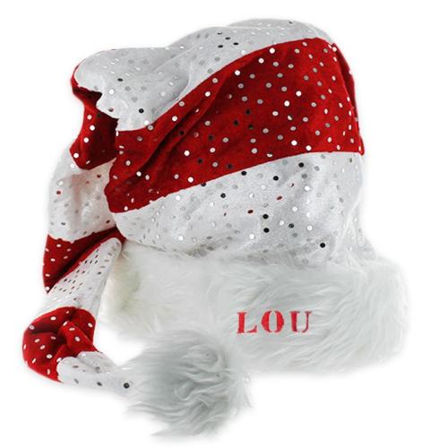 Gorro navideño largo y con brillantes