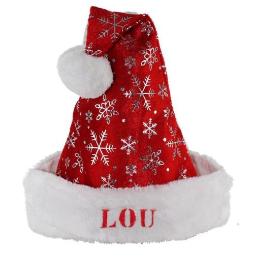 Gorro navideño con copos de nieve para niño