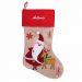 Bota navideña Santa Claus bordada con nombre