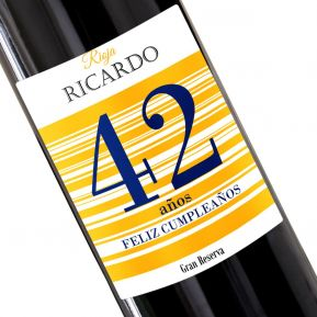 Botella de vino personalizada feliz cumpleaños