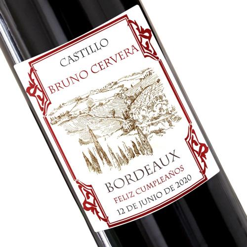 Botella de vino Francés - Bordeaux