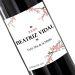 Botella de vino personalizada Cereza