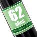 Botella de vino personalizada cumpleaños verde