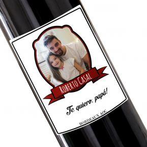 Botella de vino personalizada etiqueta foto