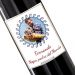 Botella de vino personalizada laureles foto