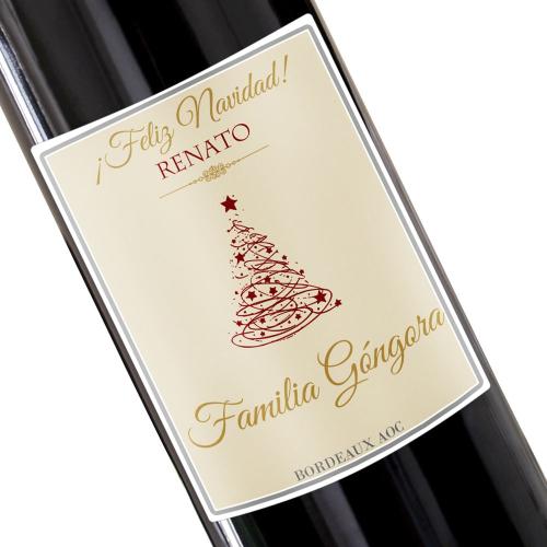 botella de vino para Navidad