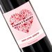 Botella de vino personalizada Corazon