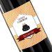 Botella de vino personalizada Sello naranja
