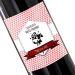 Botella de vino personalizada Sello Rosa