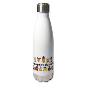 Botella térmica personalizada gracias maestra