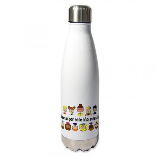 Botella térmica personlizada gracias maestra