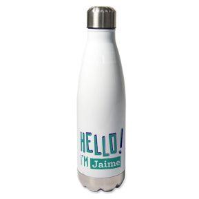 Botella térmica personlizada HELLO