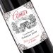Botella de vino personalizada casona Amor