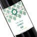 Botella de vino personalizada Rococo verde