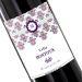Botella de vino personalizada Rococo violeta