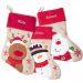 Bota navideña para niños personalizada con nombre
