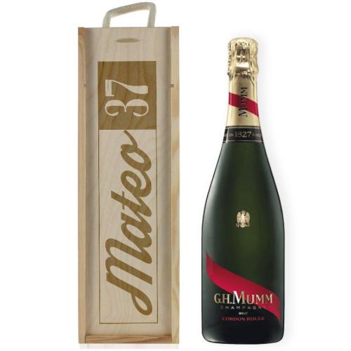 Caja de champaña cumpleaños personalizada