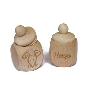 Caja de dientes en madera personalizada