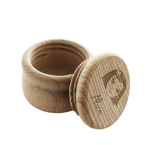 Caja de dientes en madera we are family