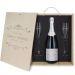 Caja de regalo Luxury : botella de champán y dos copas