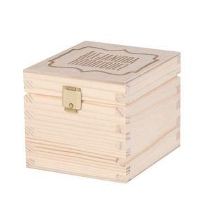Caja grabada para bolsitas de té