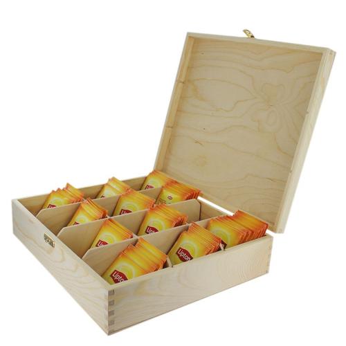 Caja de té 12 compartimentos con té